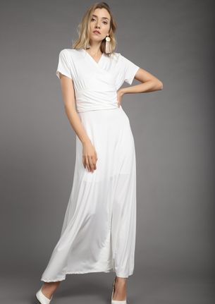 WRAPPED WITH LOVE WHITE MAXI DRESS