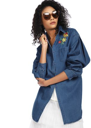 FULL OF SASS BLUE DENIM SHIRT