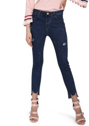 SURE-SHOT IS MY THING BLUE  CROPPED DENIMS
