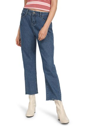 LOOKING FOR YOU DARK BLUE CROPPED DENIMS