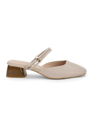 KEEP THAT BLOCK ON NUDE BEIGE HEELED SHOES