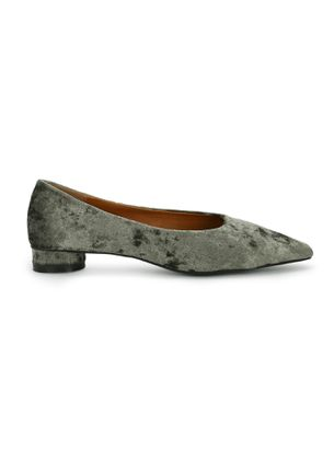 LOOK TO THE LUXE SIDE OLIVE BALLET FLATS