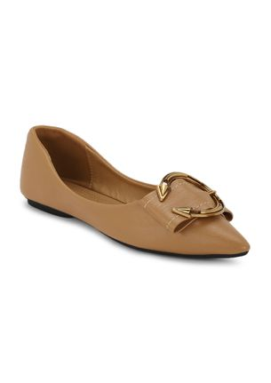 THE CLASSIC BOW BROWN BALLET FLATS