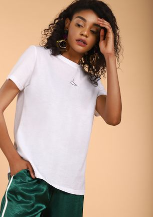 HANG ON FOR A SEC WHITE T-SHIRT