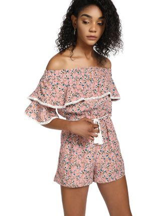 BRIGHT SUNNY DAY PINK ROMPER