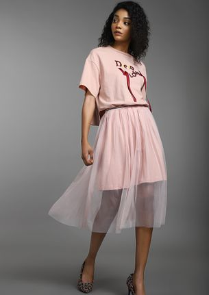 DREAM LOVE PINK MIDI DRESS