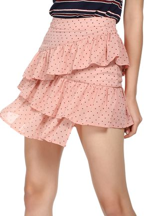 WHEN THE HEARTS ATTACK PINK SKATER SKIRT