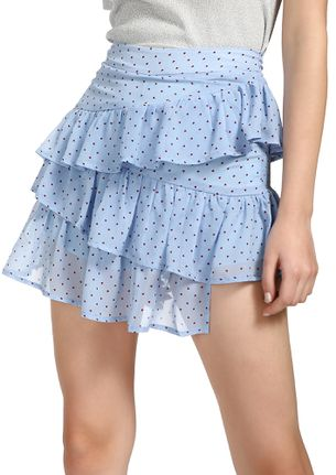 WHEN THE HEARTS ATTACK BLUE SKATER SKIRT