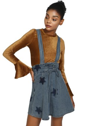 NOT FADING OUT BLUE PINAFORE SKIRT