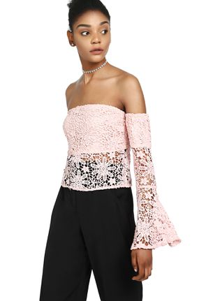 DELICATE FOR DAYS PINK BANDEAU TOP
