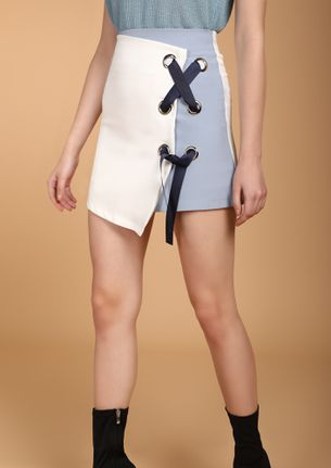 IN A DIFFERENT WAY WHITE MINISKIRT