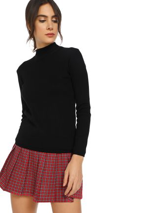 I'M HOT AND COLD BLACK RIBBED TOP