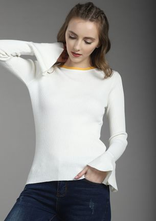 WRONG WEATHER RIGHT MOOD WHITE RIBBED TOP