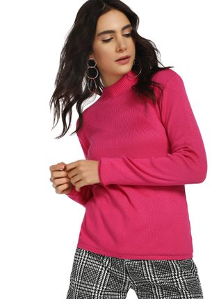 I'M HOT AND COLD PINK RIBBED TOP