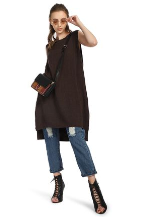 COMFORT OVER ANYTHING BROWN SHIFT DRESS