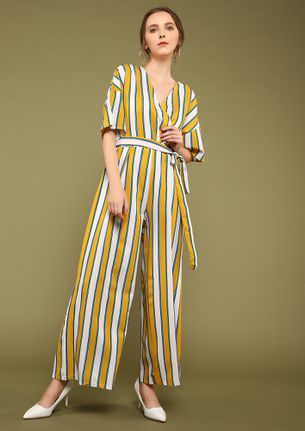 LINES OF WISDOM YELLOW JUMPSUIT