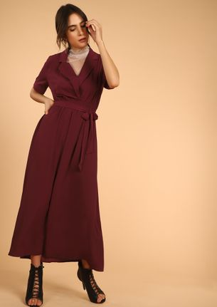 GONNA GET GOING MARSALA RED MAXI DRESS