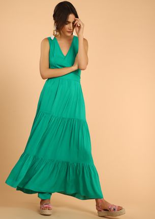 STOP RIGHT HERE TURQUOISE MAXI DRESS