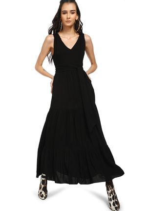 STOP RIGHT HERE BLACK MAXI DRESS