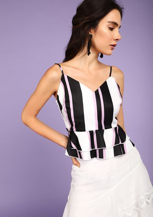 Let's Move On Stripes LILAC Cami Top