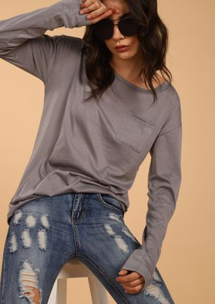 GET YOUR BASICS CLEAR GREY T-SHIRT