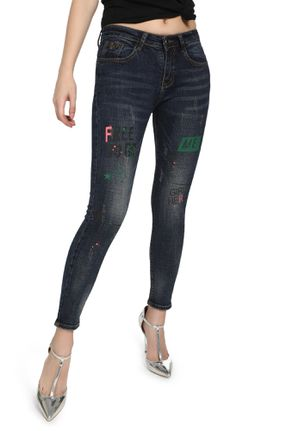 FREE TO BE ME DEEP BLUE SKINNY JEANS