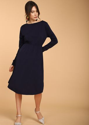 DO THE RIGHT THING BLUE MIDI DRESS