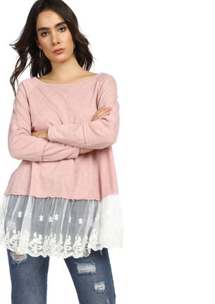 EXTENDING COMPASSION CHALKY PINK LONGLINE T-SHIRT