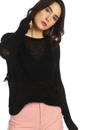 IT'S NEVER TOO LATE BLACK RIBBED TOP