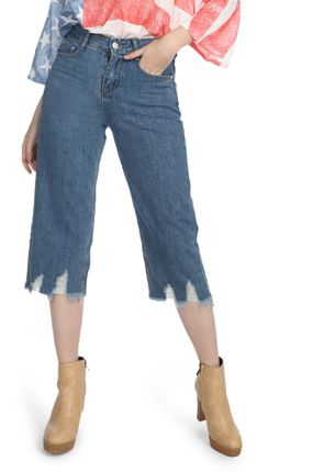 DO WHAT YOU WANT BLUE CROPPED DENIMS