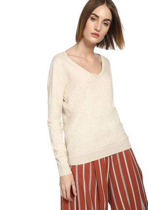 CAN YOU RIB-PEAT IVORY RIBBED T-SHIRT