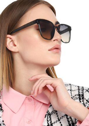 OVER THE TOP GREY CATEYE SUNGLASSES