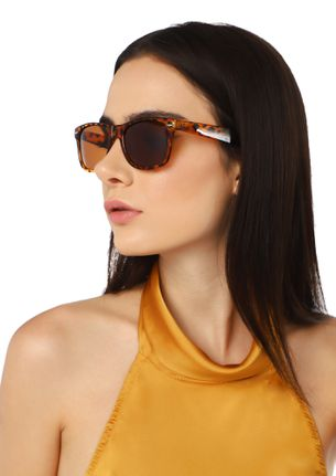 BRAVING SUN RAYS AMBER BROWN WAYFARERS