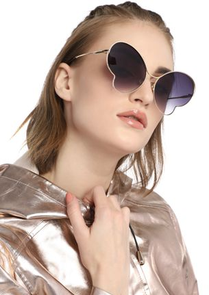 LIFE OF A BUTTERFLY GREY RETRO SUNGLASSES