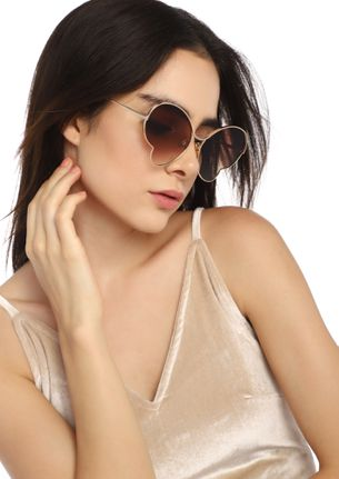 LIFE OF A BUTTERFLY BROWN RETRO SUNGLASSES