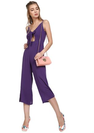 NO CHILLS HERE PURPLE JUMPSUITS