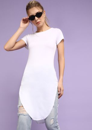 HELLO BESTFRIEND WHITE TUNIC TOP