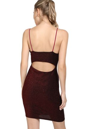 LIFE IS A PARTY BURGUNDY BODYCON DRESS