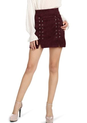 GOING MORE ON LACE BURGUNDY MINI SKIRT