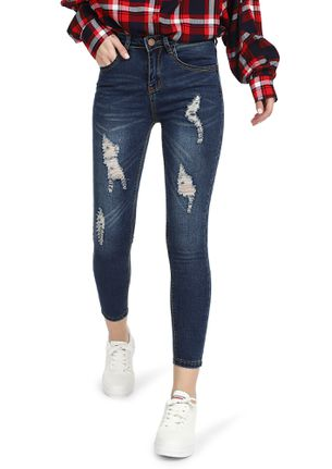 TOUGH CHOICES AHEAD LIGHT BLUE RIPPED JEANS