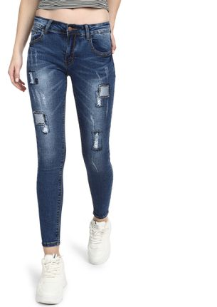 MEND YOUR MISTAKES BLUE SKINNY JEANS