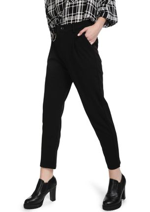 PUT ON YOUR O-RING BLACK CIGARETTE TROUSERS