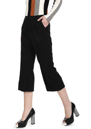 CARE TO FLARE BLACK CULOTTES