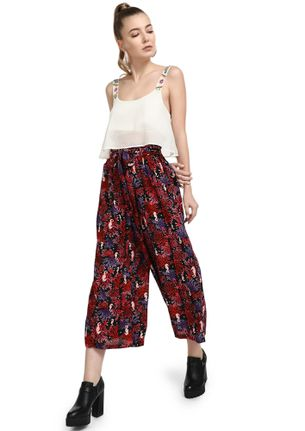 ABSTRACT FRAME OF MIND RED CULOTTES