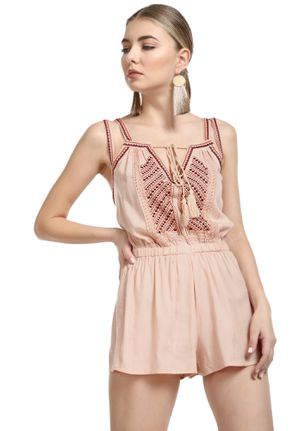 LET'S GO VACAYING PINK ROMPER