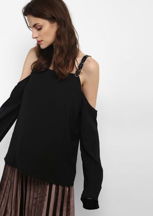 SOAK UP THE SUN BLACK BLOUSE