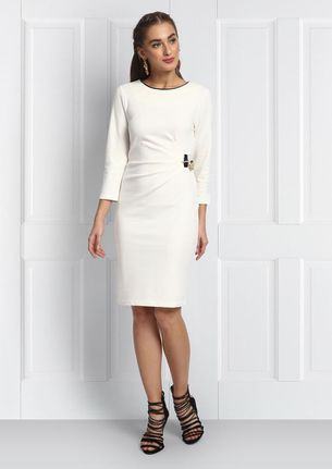 RUCHED DRESS  WITH GOLD CHAIN DETAIL