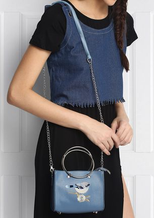 LITTLE BIRDY BLUE HANDLE BAG