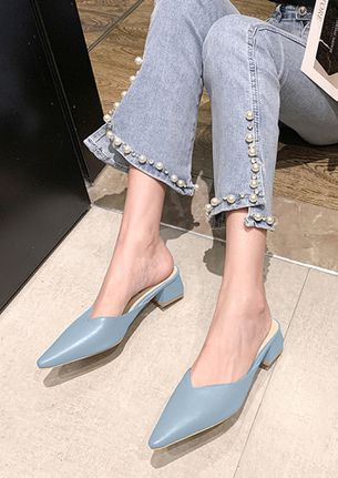 STAND OUT BLUE HEELED SANDALS