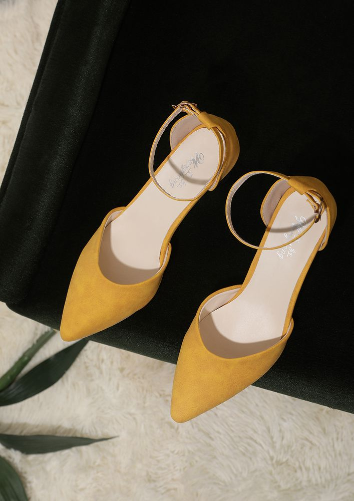 MELLOW DOWN YELLOW INVERTED CONE PUMPS